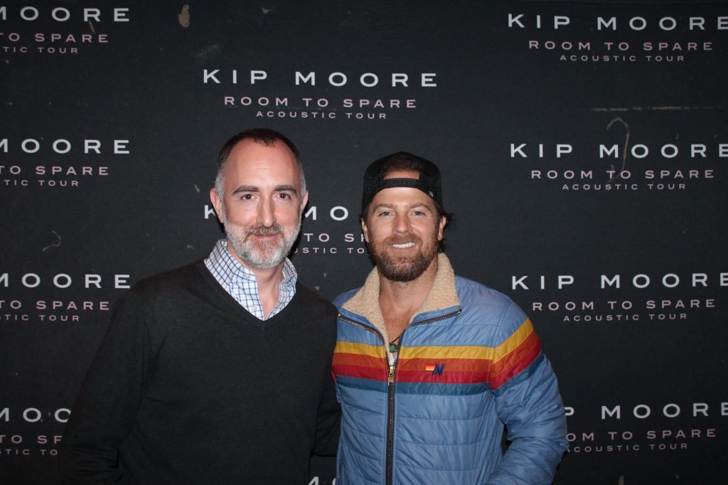 The Country Scene's Shawn St. Jean with Kip Moore at the Ridgefield Playhouse, May 9, 2019