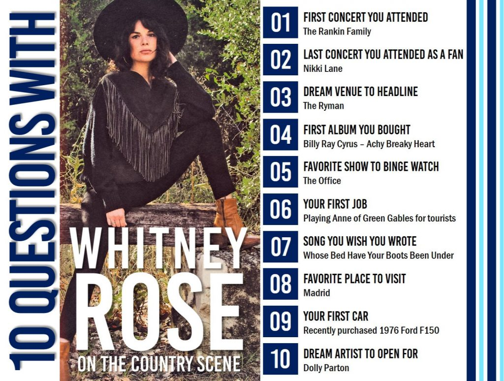 10 Questions With Whitney Rose