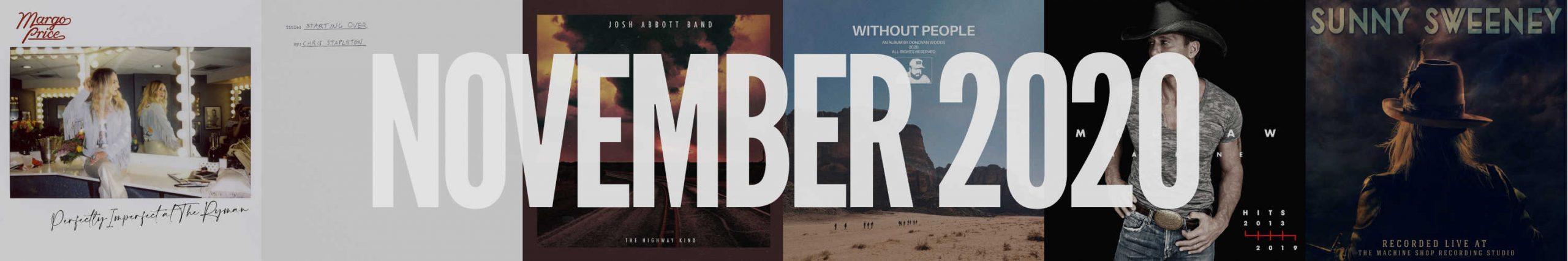 November 2020 New Country Album Releases